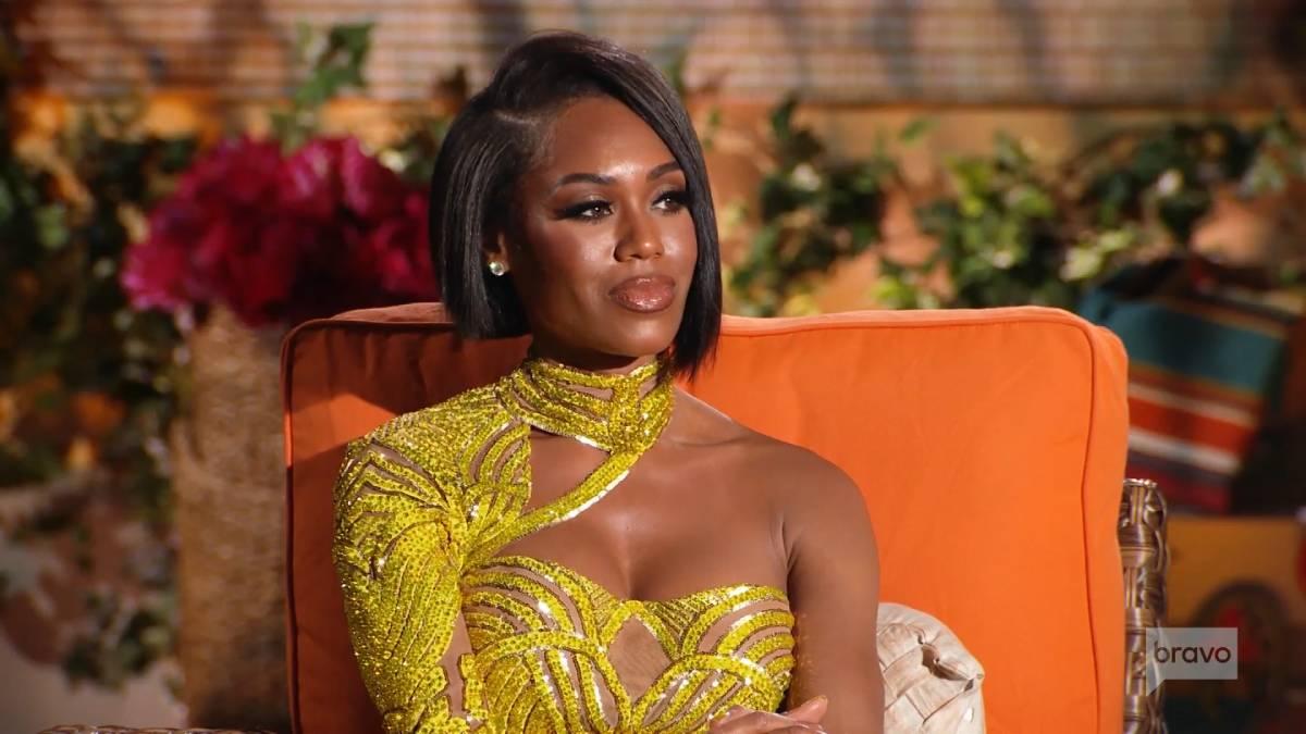 Monique Samuels films for the RHOP reunion