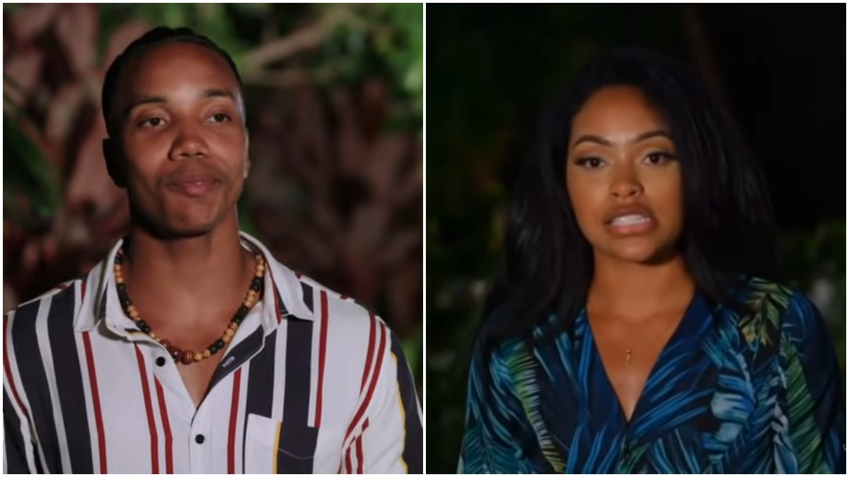 Kendal Kirkland and Erica Washington on Temptation Island