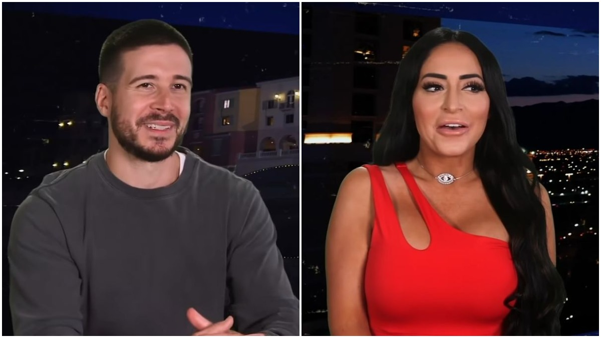 Angelina Pivarnick and Vinny Guadagnino on Jersey Shore Family Vacation