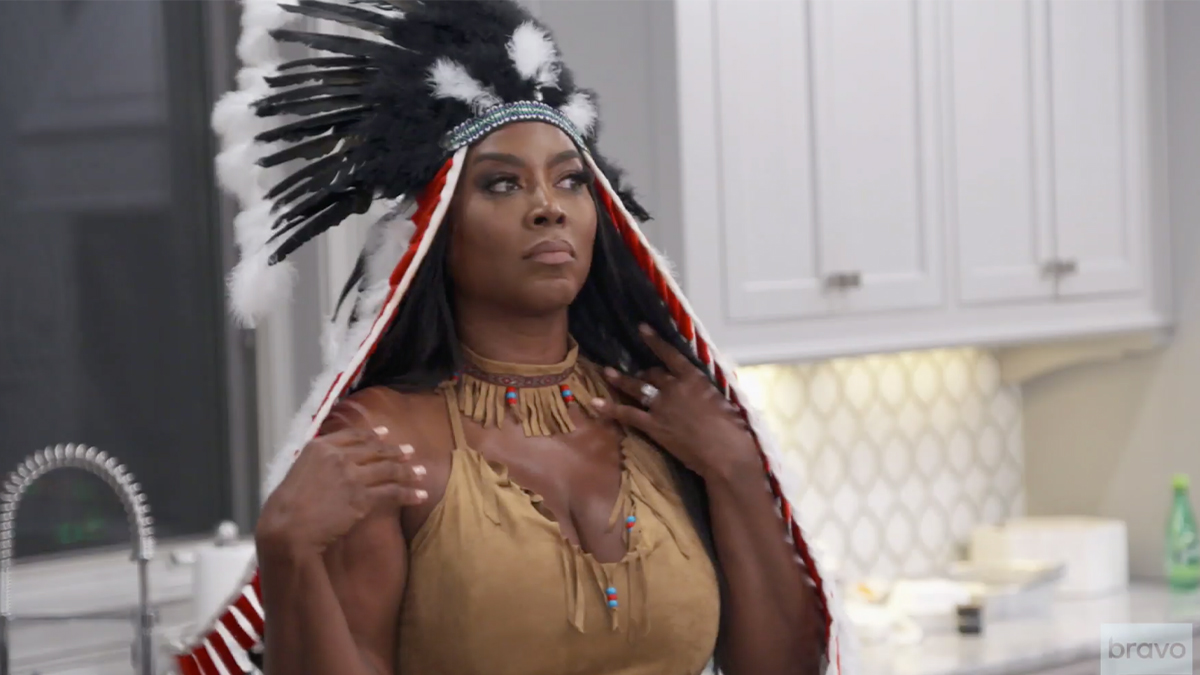 Kenya Moore's Native American costume had caused outrage.