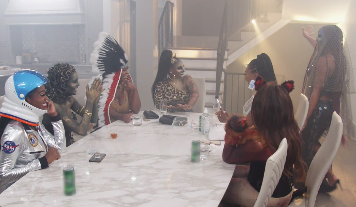 The Atlanta Housewives living for LaToya's sparkly and spooky mermaid costume