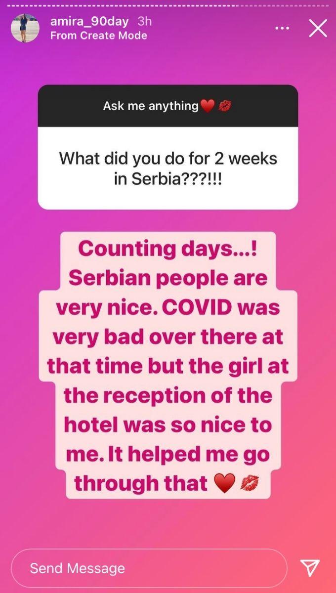 Season 8 of 90 Day Fiance Amira on Instagram
