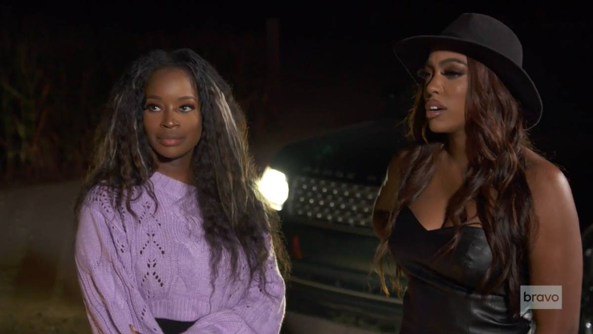 Shamea Morton and Porsha Williams film for RHOA