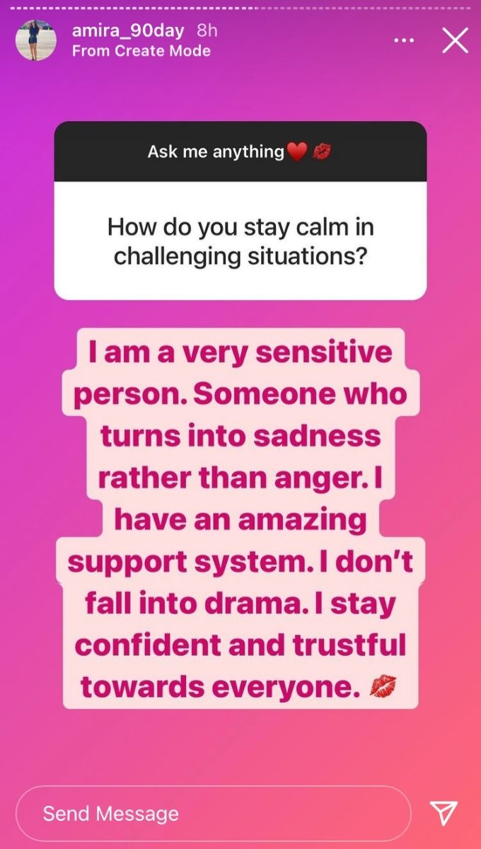 Amira from Season 8 of 90 Day Fiance on Instagram