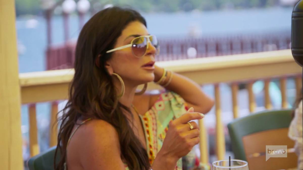 Teresa Giudice films for RHONJ