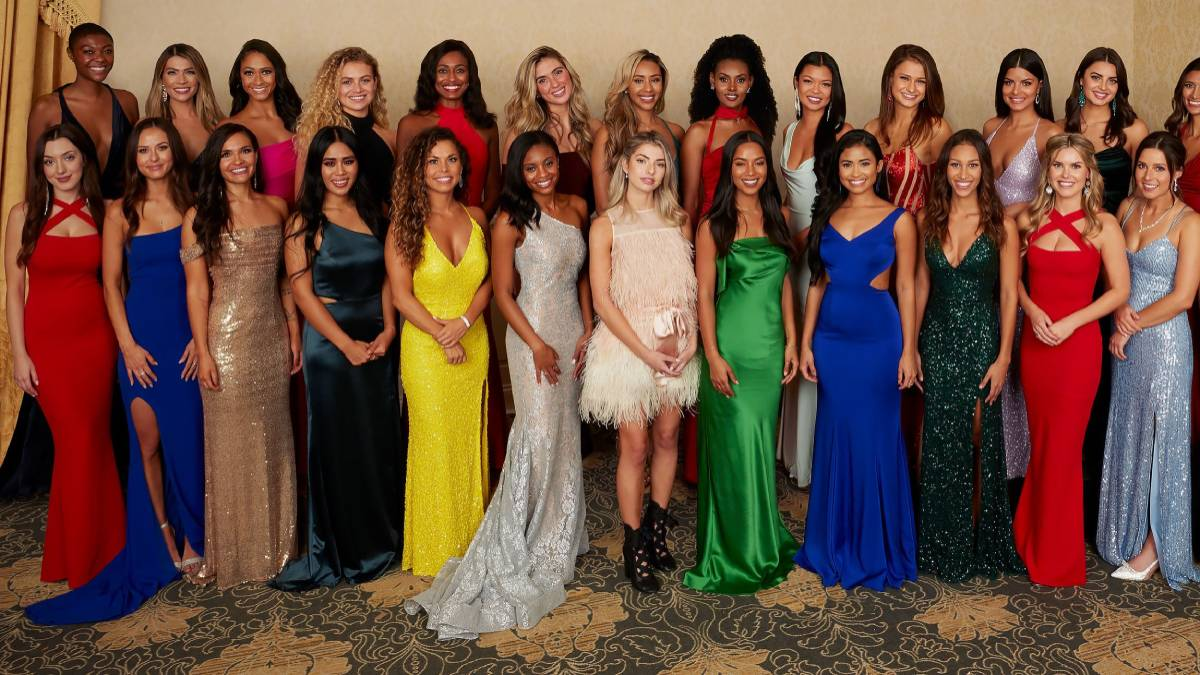 The contestants on Matt James's season of The Bachelor