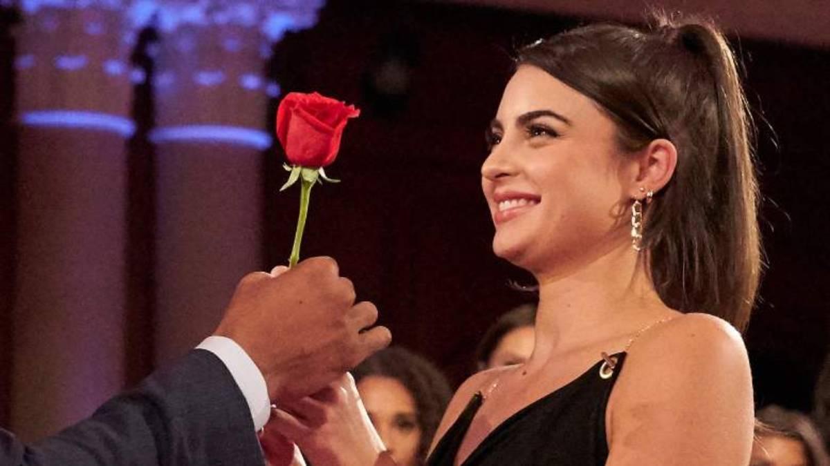 Rachael Kirkconnell accepts Matt James's rose