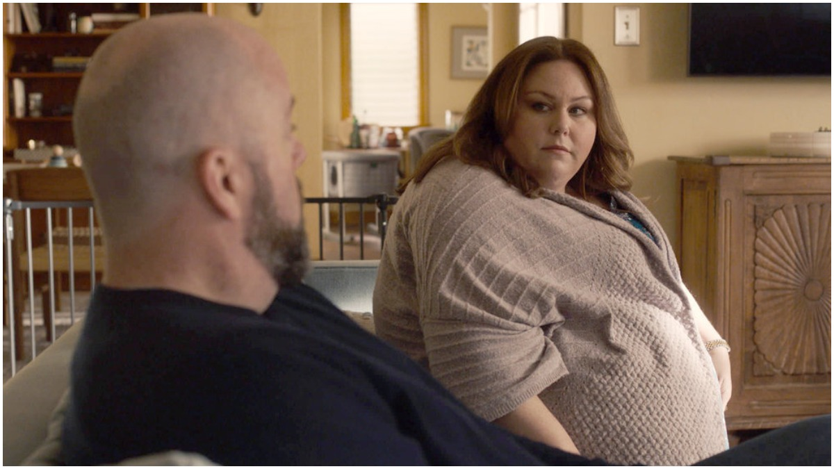 Chrissy Metz and Chris Sullivan star as Kate and Toby on This is Us.