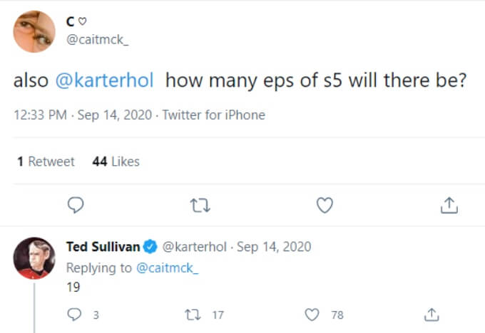 A fan asks how many episodes there will be