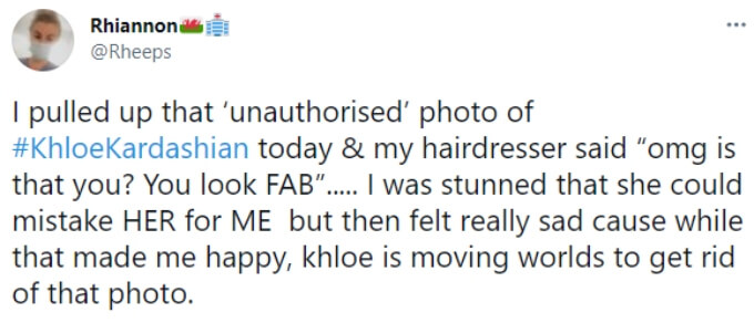 A fan feels sad that the Kardashians are trying so hard to remove the photo