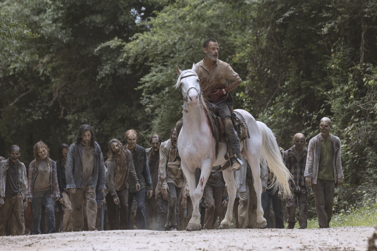 Andrew Lincoln stars as Rick Grimes, as seen in Episode 5 of AMC's The Walking Dead Season 9
