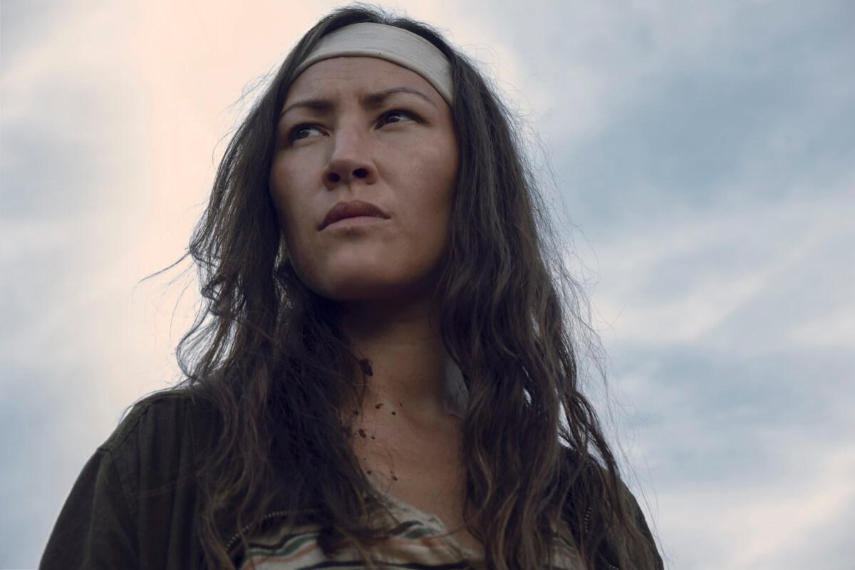 Eleanor Matsuura stars as Yumiko, as seen in Episode 7 of AMC's The Walking Dead Season 9
