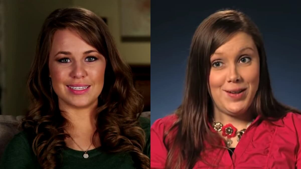 Jana and Anna Duggar in TLC confessionals.