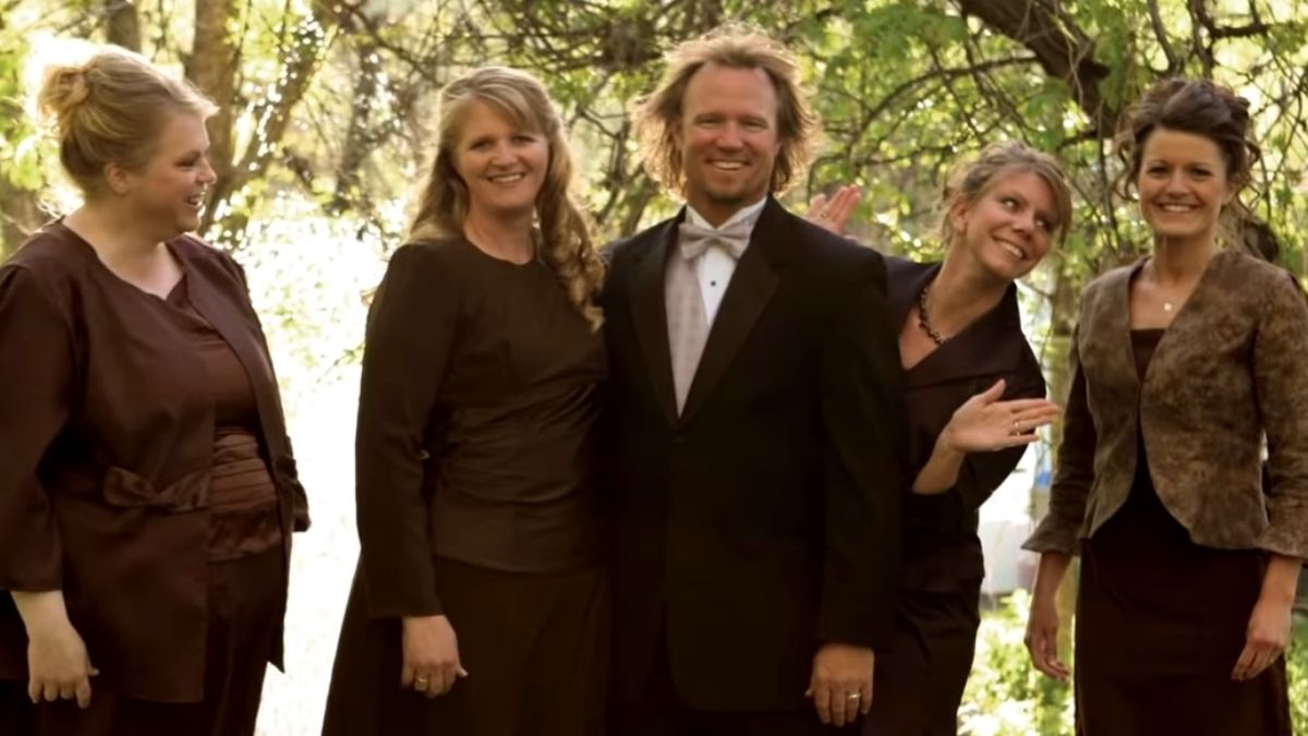 Kody Brown and his wives Janelle, Christine, Meri and Robyn Brown of Sister Wives
