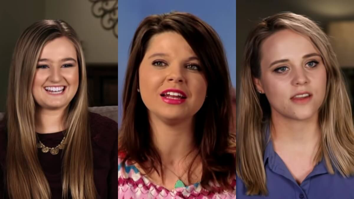 Kendra Caldwell, Amy Duggar King, and Jinger Duggar in TLC confessionals.