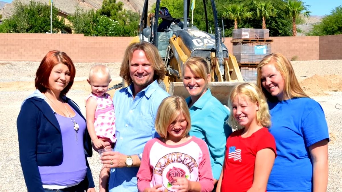 Kody and Christine Brown of Sister Wives with some of their kids