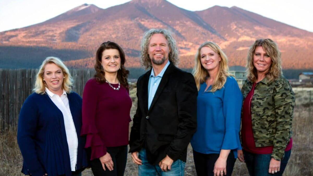 Kody Brown and his wives Meri, Janelle, Christine and Robyn Brown of Sister Wives