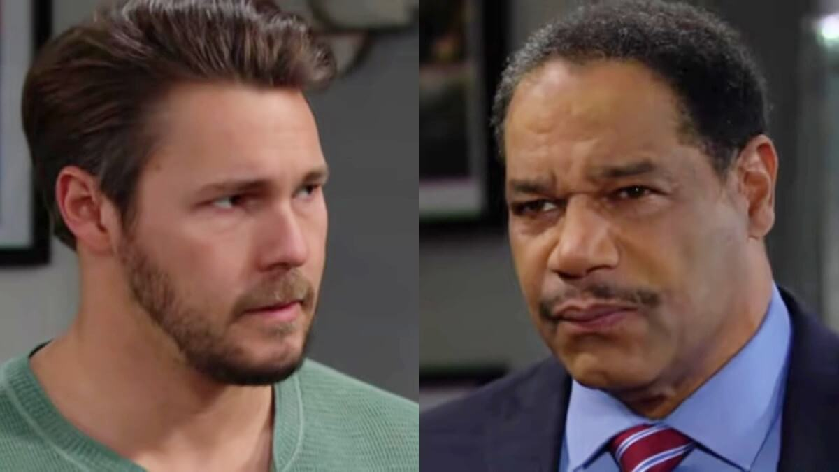 Liam and Detective Baker on The Bold and the Beautiful.
