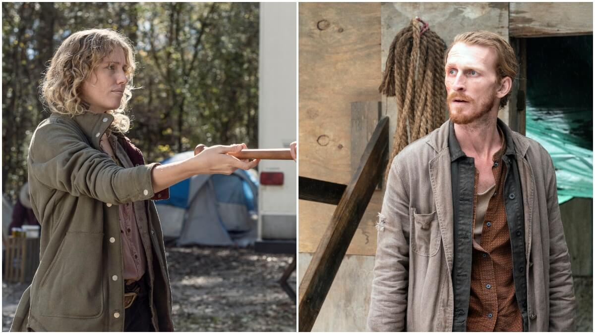 Lindsley Register as Laura and Austin Amelio as Dwight, as seen in AMC's The Walking Dead