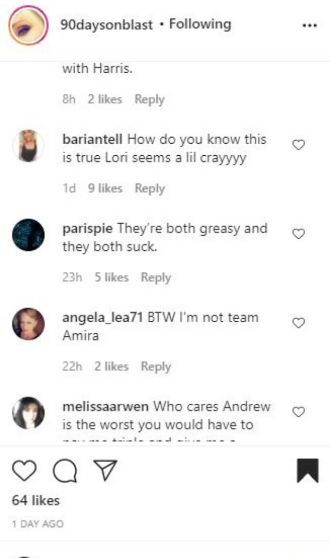 Instagram post from Andrew Kenton's mom