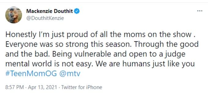 Mackenzie shows support for her Teen Mom OG castmates