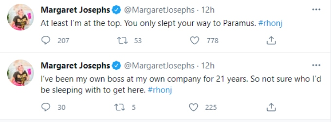 Margaret throws digs at Jennifer on Twitter
