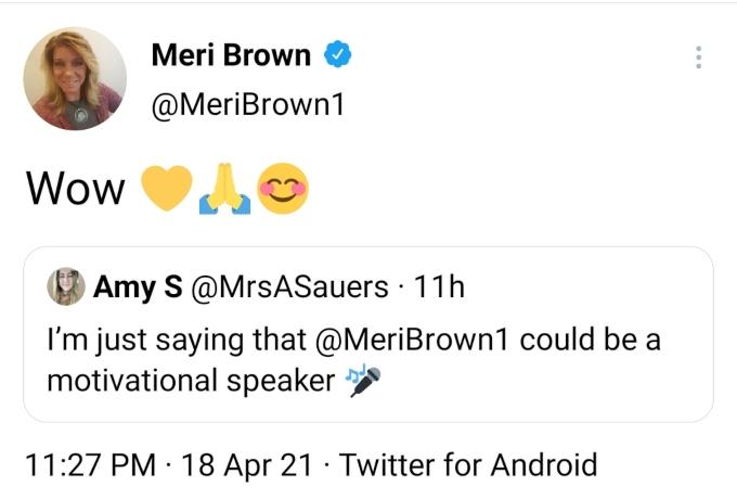 Meri Brown of Sister Wives on Twitter