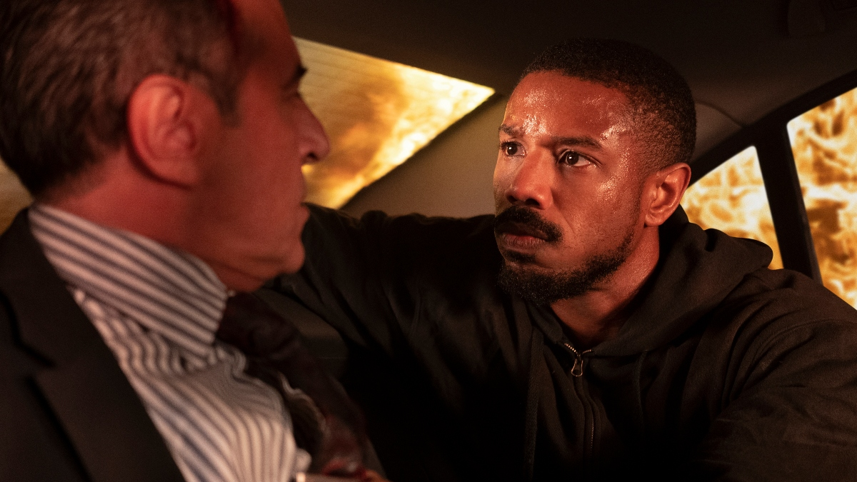 Michael B. Jordan as John Kelly interrogating suspect in Without Remorse