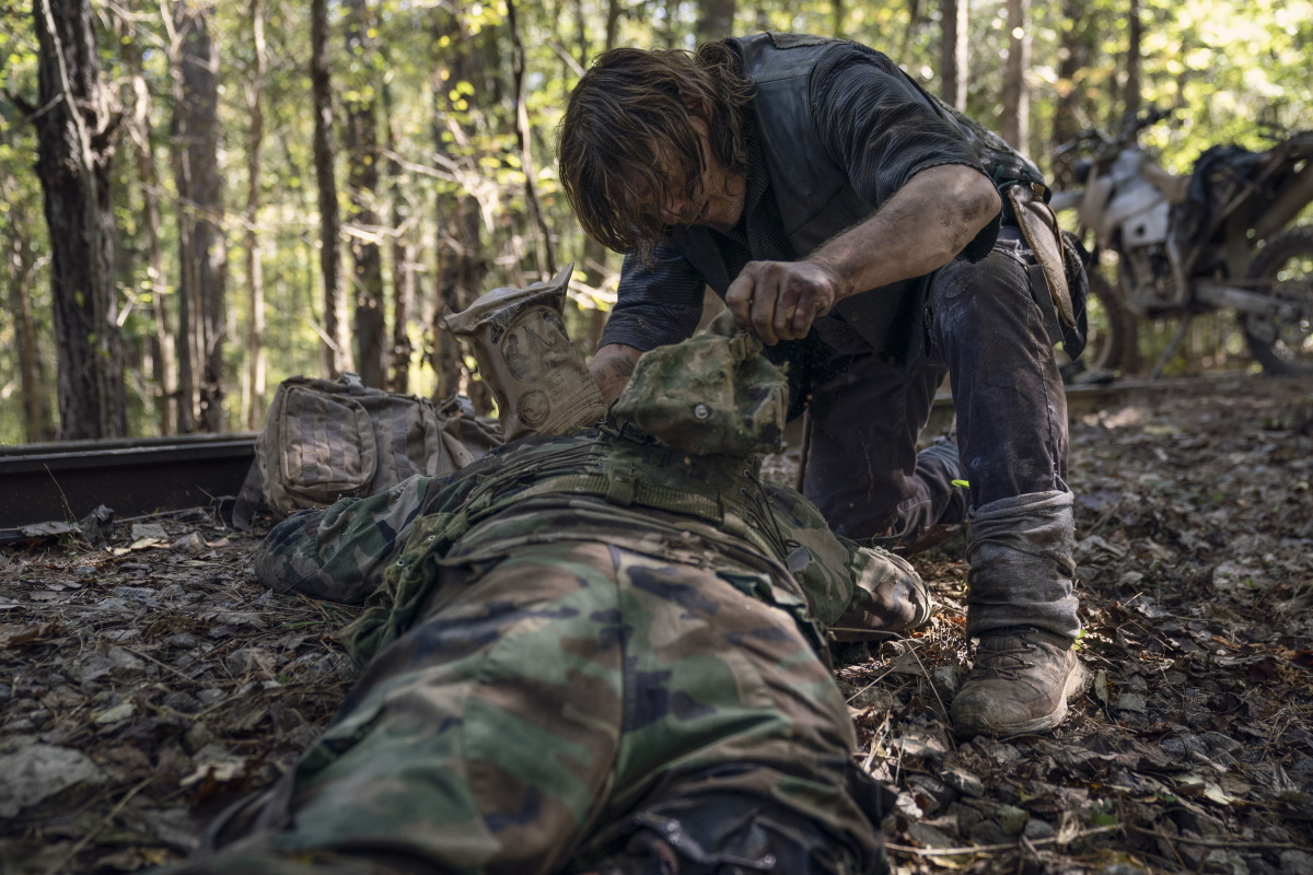 Norman Reedus stars as Daryl Dixon, as seen in Episode 21 of AMC's The Walking Dead Season 10C