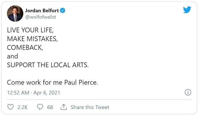 Paul Pierce Jordan Belfort