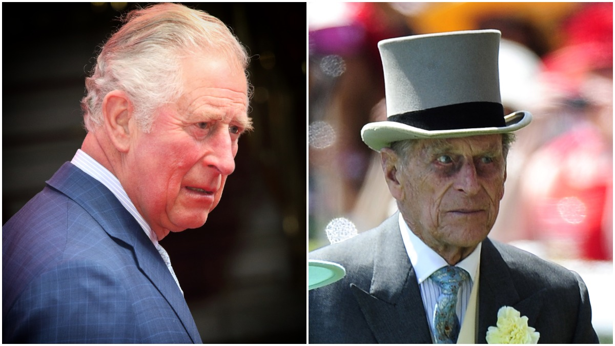 Prince Charles and Prince Philip at royal events