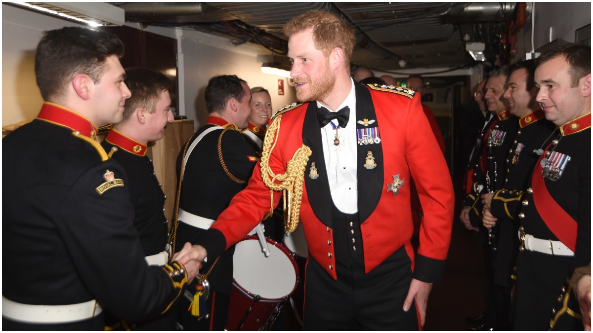 Prince Harry in military dress uniform