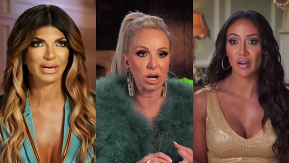 Teresa Giudice, Margaret Josephs, and Melissa Gorga in confessionals.