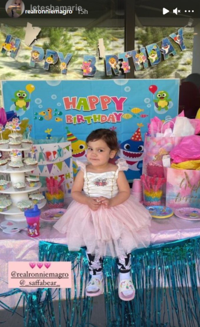 Ronnie Magro celebrates his daughter's birthday on Easter