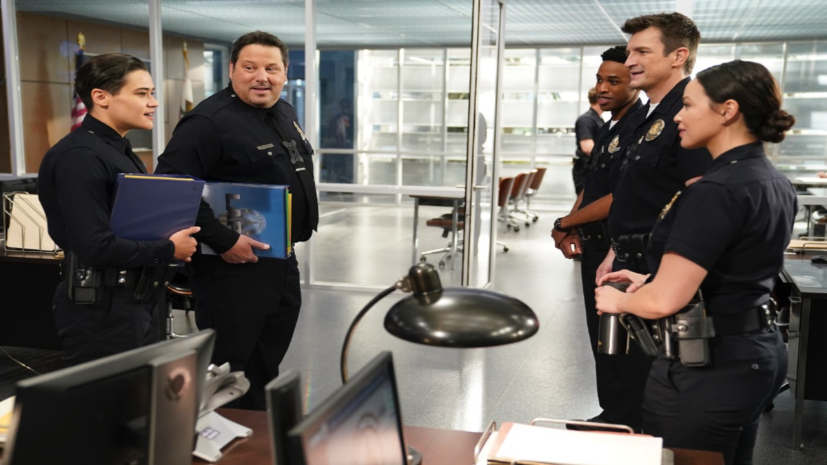 Production still from the set of The Rookie