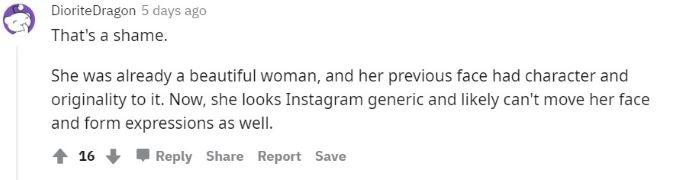 Screenshot from Avery Reddit post.