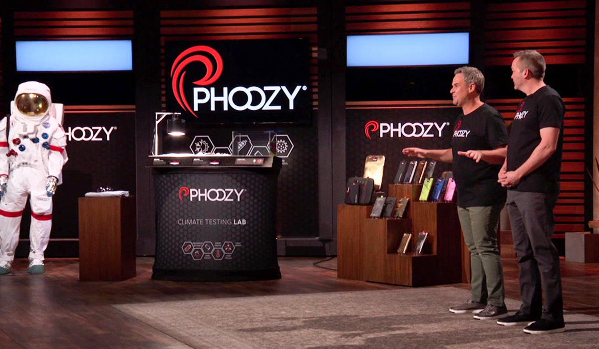 Phoozy's display, built to impress the Shark Tank panel.