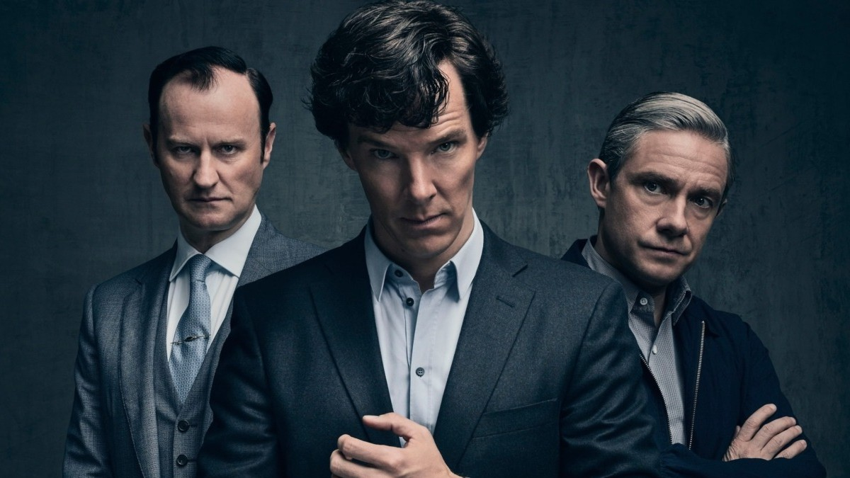 Production still from Sherlock.