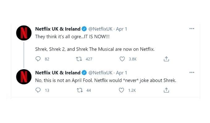 Screenshot of tweets.