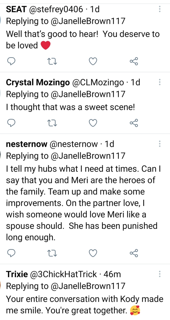 Janelle Brown of Sister Wives on Twitter