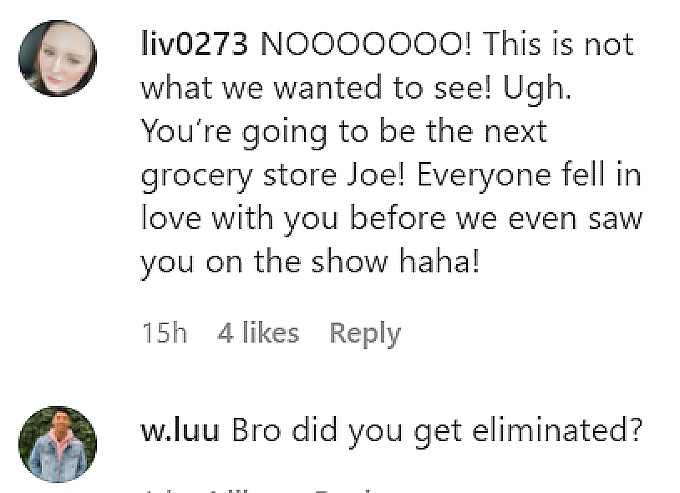 Bao Wu fans comment on Instagram.