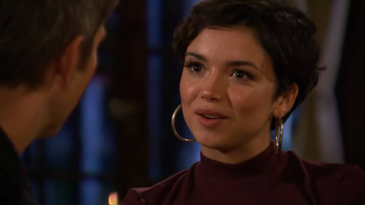 Bekah Martinez films for The Bachelor