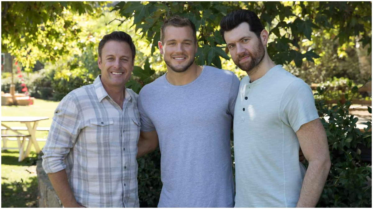 Chris Harrison, Colton Underwood and Billy Eichner