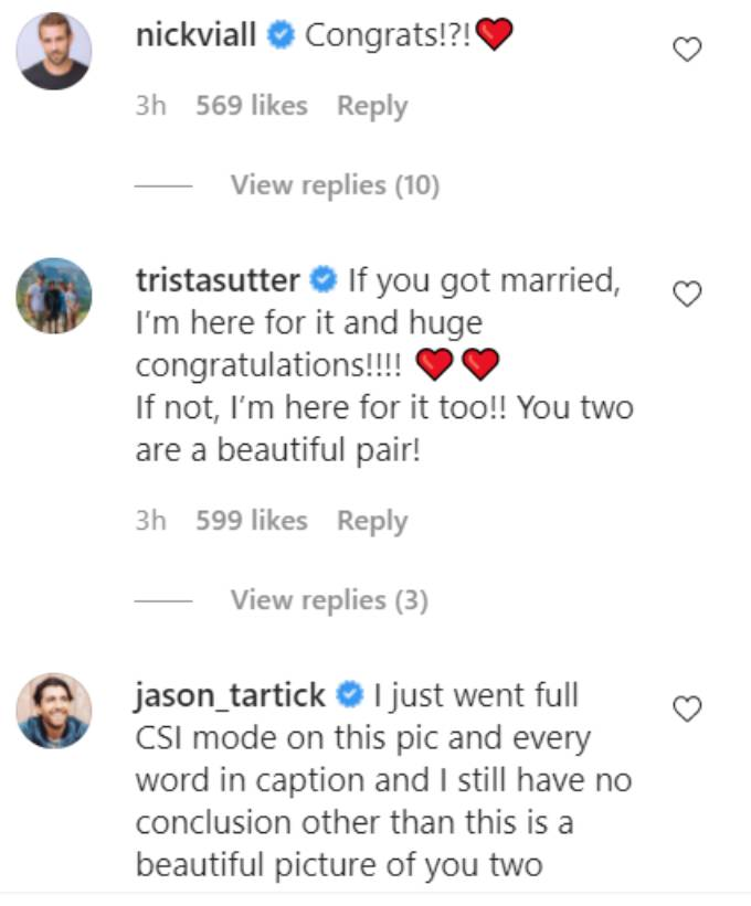 Comments on Chris Harrison's Instagram post.