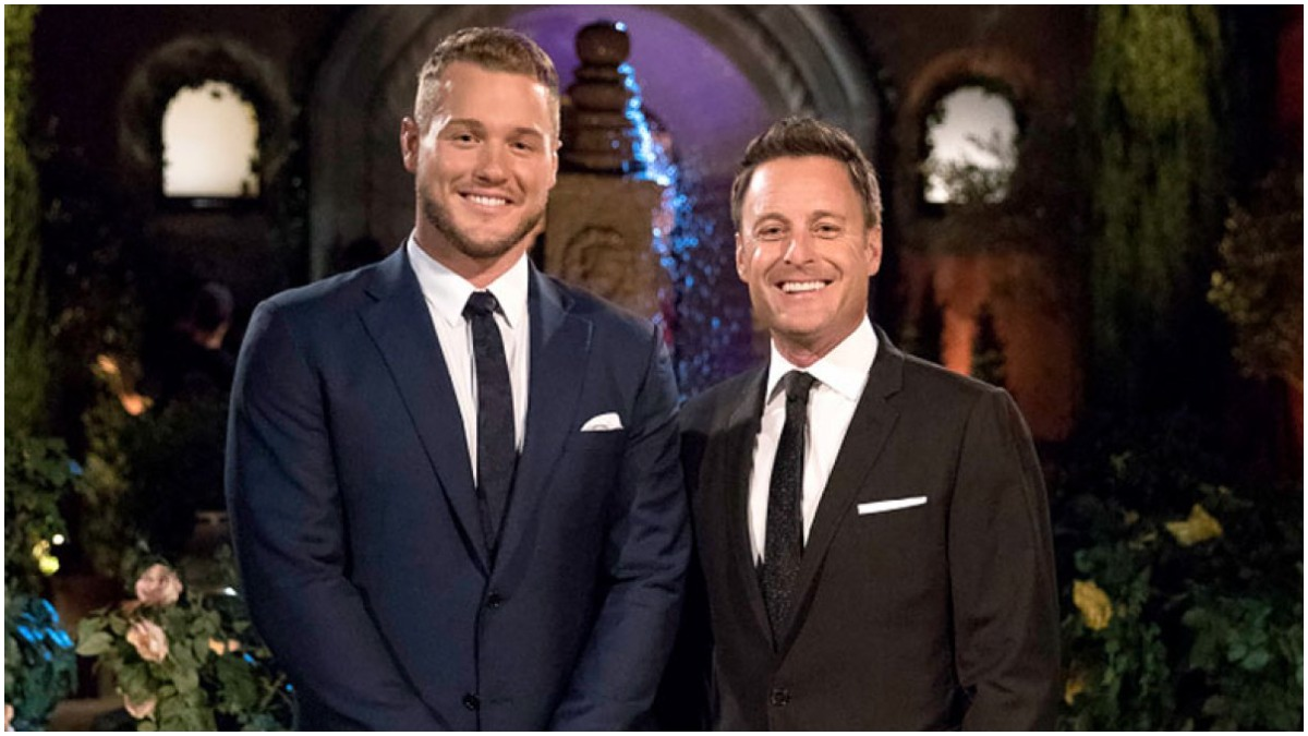 Colton Underwood and Chris Harrison