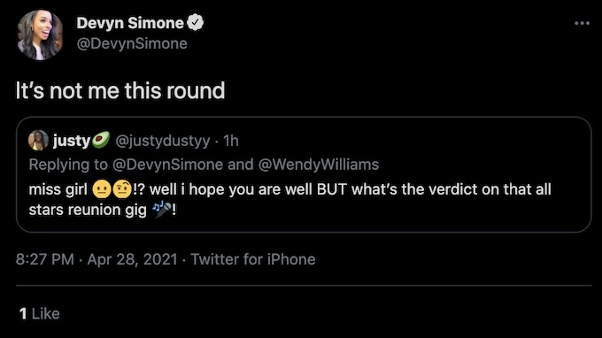 devyn simone comments on the challenge all stars reunion host