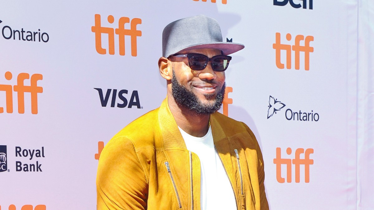 LeBron James on the red carpet