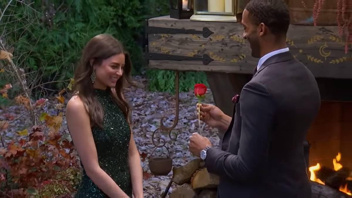 Matt James and Rachael Kirkconnell film for The Bachelor