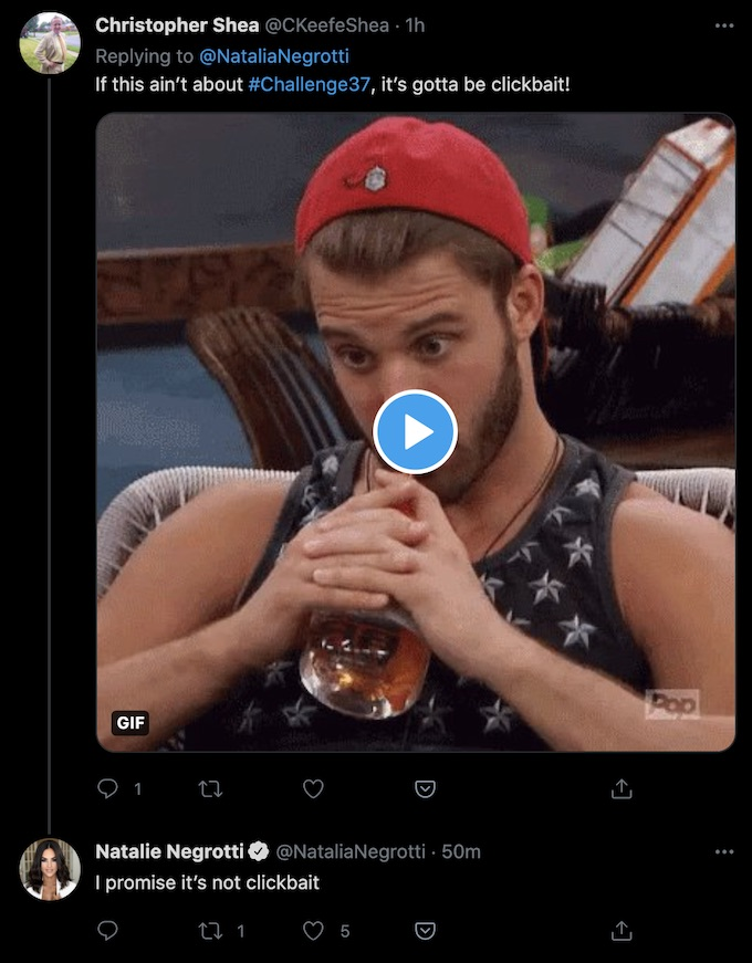 natalie negrotti tweet comment reply
