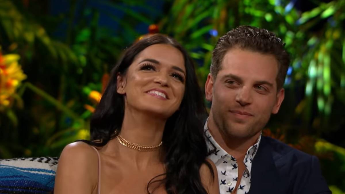 Raven Gates and Adam Gottschalk film for Bachelor in Paradise